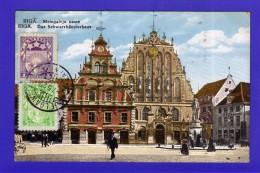 N°321. LETTONIE. RIGA . MELNGALVJU NAMS ( VOIR TIMBRE ET OBLITERATION ) - Latvia