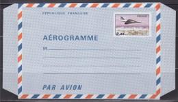 = Avion Concorde Survolant Paris N°1007-AER  AEROGRAMME Neuf 2f35 - Postal Stamped Stationery