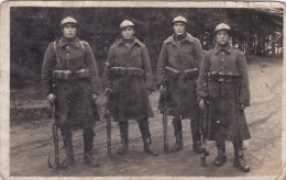 Oude Foto Old Original Photo Bayonet Gun Militaria Belgisch Leger Soldaat Armee Belge Soldat Soldiers Belgian Army - Personnages