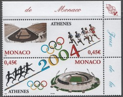 MONACO 2004 - DUO N° 2439 A 2440 - 2 TP NEUFS** - Neufs
