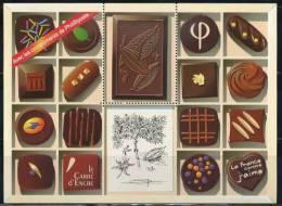 = Bloc Gommé Chocolat Hors Commerce Avec Les Compliments De Phil@poste Sans Valeur Faciale Visuel Timbre 4366 Neuf - Blocs & Feuillets