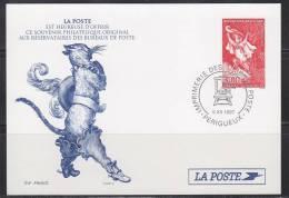 = Carte Imprimerie Des Timbres Poste Pour Réservataires Reprise Visuel Timbre 3058 Le Chat Botté Perrault 5.XII.1997 - Ganzsachen