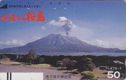 Télécarte Ancienne Japon / 110-6333 - VOLCAN - VULCAN Japan Front Bar Phonecard / A - VULKAN Balken TK - VOLCANO - Volcans