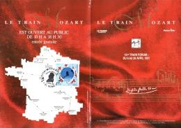 Brochure Train Mozart N°2695, Timbre Et Cachet En Vente Anticipée Du 13 Avril 1990 à Reims RARE - Musique
