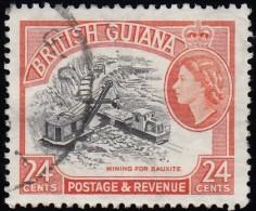 BRITISH GUIANA - Scott #261 Bauxite Mining (*) / Used Stamp - British Guiana (...-1966)