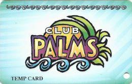 Palms Casino Las Vegas NV - Early Temporary Slot Card - Casino Cards
