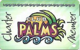 Palms Casino Las Vegas NV - Early BLANK Charter Member Slot Card - Casino Cards