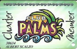 Palms Casino Las Vegas NV - Early PRINTED Charter Member Slot Card - Cartes De Casino