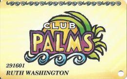 Palms Casino Las Vegas NV - PRINTED  Slot Card - No Phone# On Back - Casino Cards