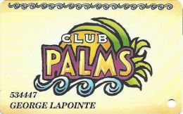 Palms Casino Las Vegas NV - PRINTED Slot Card - With Phone#s On Back - Casino Cards