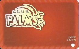 Palms Casino Las Vegas NV - BLANK Club Palms Slot Card - Exp 03/31/05 - Casino Cards
