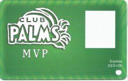 Palms Casino Las Vegas NV - BLANK MVP & Photo Square Slot Card - Exp 03/31/05 - Casino Cards