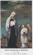 SANTINO - Holy Card - Image Pieuse - S.Francesca Romana - Abbazia Di Monte Oliveto Maggiore (Asciano/Siena) - Images Religieuses