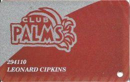 Palms Casino Las Vegas NV - PRINTED Club Plams Slot Card - Exp 3/31/06 Series - Casino Cards