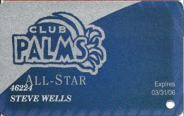 Palms Casino Las Vegas NV - All-Star Slot Card - Exp 3/31/06 - Casino Cards