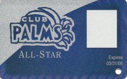 Palms Casino Las Vegas NV - BLANK All-Star & Photo Square Slot Card - Exp 3/31/06 - Casino Cards