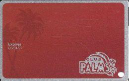 Palms Casino Las Vegas NV - BLANK Club Palms Slot Card - Exp 3/31/07 Series - Casino Cards