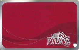 Palms Casino Las Vegas NV - BLANK Club Palms Slot Card - Exp 04/30/08 Series - Casino Cards