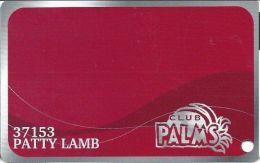 Palms Casino Las Vegas NV - PRINTED Club Palms Slot Card - Exp 04/30/08 Series - Casino Cards