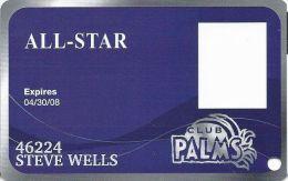 Palms Casino Las Vegas NV - All-Star Slot Card - Exp 04/30/08 - Casino Cards