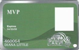 Palms Casino Las Vegas NV - MVP Slot Card - Exp 04/30/08 - Casino Cards