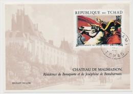 "TCHAD - 3 ""Feuillets De Luxe"" - Napoléon Bonaparte, Mariage De Napoléon, Bonaparte Au Grand St Bernard - Napoleon"
