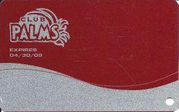 Palms Casino Las Vegas NV - BLANK Club Palms Slot Card - Exp 04/30/09 - Casino Cards
