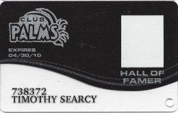 Palms Casino Las Vegas NV - PRINTED Hall Of Famer Slot Card (Clear Bottom) Exp 04/30/10 - Casino Cards