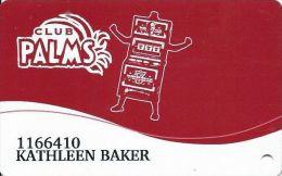 Palms Casino Las Vegas NV - Club Palms Slot Card - Casino Cards