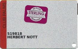 Palms Casino Las Vegas NV - Club Palms Slot Card With Sterling Advantage Sticker - Casino Cards