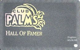 Palms Casino Las Vegas NV - Hall Of Famer Slot Card Exp 03/31/05 - Casino Cards