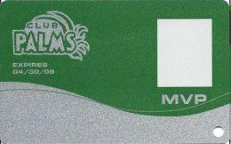 Palms Casino Las Vegas NV - MVP Slot Card Exp 04/30/09 - Casino Cards