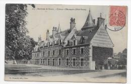 (RECTO / VERSO) ENVIRONS DE DREUX - N° 65 - CHATEAU D' ESCORPAIN EN 1908 - BEAU CACHET - CPA - Autres Communes