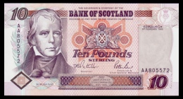 Scotland 10 Pounds 1995 P.120a UNC - 10 Pounds