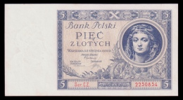 Poland 5 Zlotych 1930 AUNC - Polen