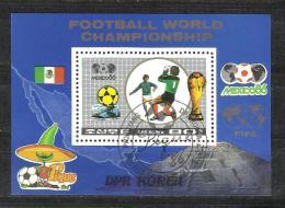 DPR, NORTH KOREA, 1986, World Cup Football, Soccer,  86, Miniature Sheet, FINE USED - Football