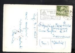 N2424 ZUG MIT ZUGERSEE UND ZUGERBERG - NICE TIMBRE SCHWEISER FRAUEN 1950 - ZG Zoug