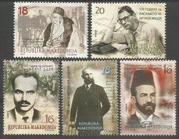 MK 2015-740-4 Famouse Persons, MAKEDONIA, 1 X 5v, MNH - Mazedonien