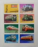 North Korea : 8 Used Stamps - Korea, North