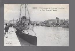 """DIEPPE...tri-centenaire De Duquesne ..(1610-1910)....aviso-torpilleurs """"dunois"""" ..animée - Dieppe"""