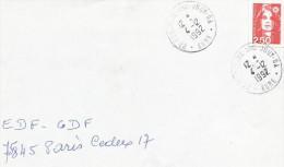 OBLITERATION MANUELLE DE FONTAINE SOUS JOUY - GA  (EURE) 1992 - Marcophilie (Lettres)