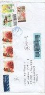 Ingapore 2010   - Lettera Racc.   X L´Italia Affrancata Con 6  Stamps - Singapore (1959-...)