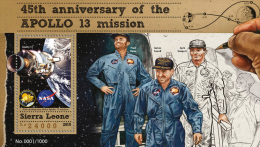 SIERRA LEONE 2015 ** Apollo 13 Space Raumfahrt S/S - OFFICIAL ISSUE - A1608