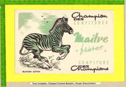BUVARD :Champion Des Confitures MAITRE  Le Zebre - Sucreries & Gâteaux
