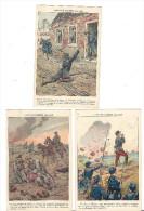 3CP Illustration Militaire Illustrateur JOB FAIS DE GUERRE 1914 1915  Cigarette Blesse Colonel Armée Russe LAPOUKHINE - Heimat