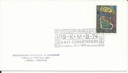 MF015 - MARCOFILIA -AUSTRIA - 6.11.1974 -TEMATICA CHRISTKINDL - 1971-80 Covers