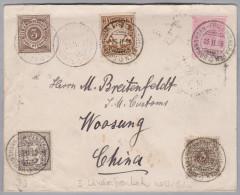 Heimat Schweiz Schiffspost Bodensee Romanshorn-Friedrichshafen 1899-02-26 Brief > China - Lettres & Documents