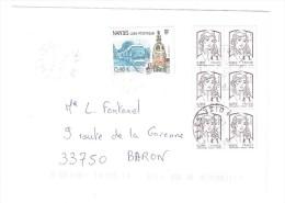 France, Lettre De PRESLES, Val D'Oise Avec Timbre TRAMWAY De Nantes+ Bloc De 6 Marianne De Ciappa Kawena, TB - Tramways