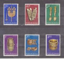 1978 -  SCULPTURES SUR BOIS  Mi No 3517/3522 Et Yv 3109/3114 - Usado
