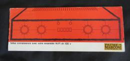 Pathé Marconi Notice HI-FI Ch 105v - Littérature & Schémas
